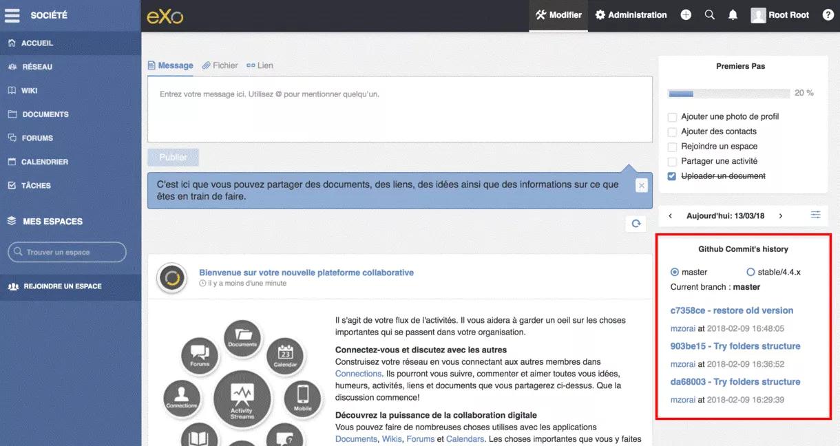 eXo : GitHub integration app