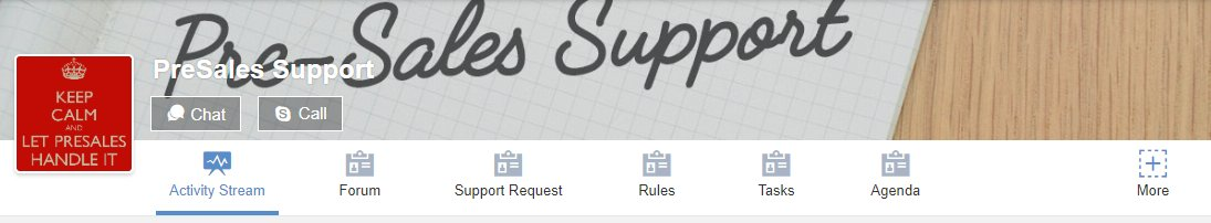eXo Platform : Internal support spaces
