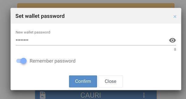 Enter your wallet password
