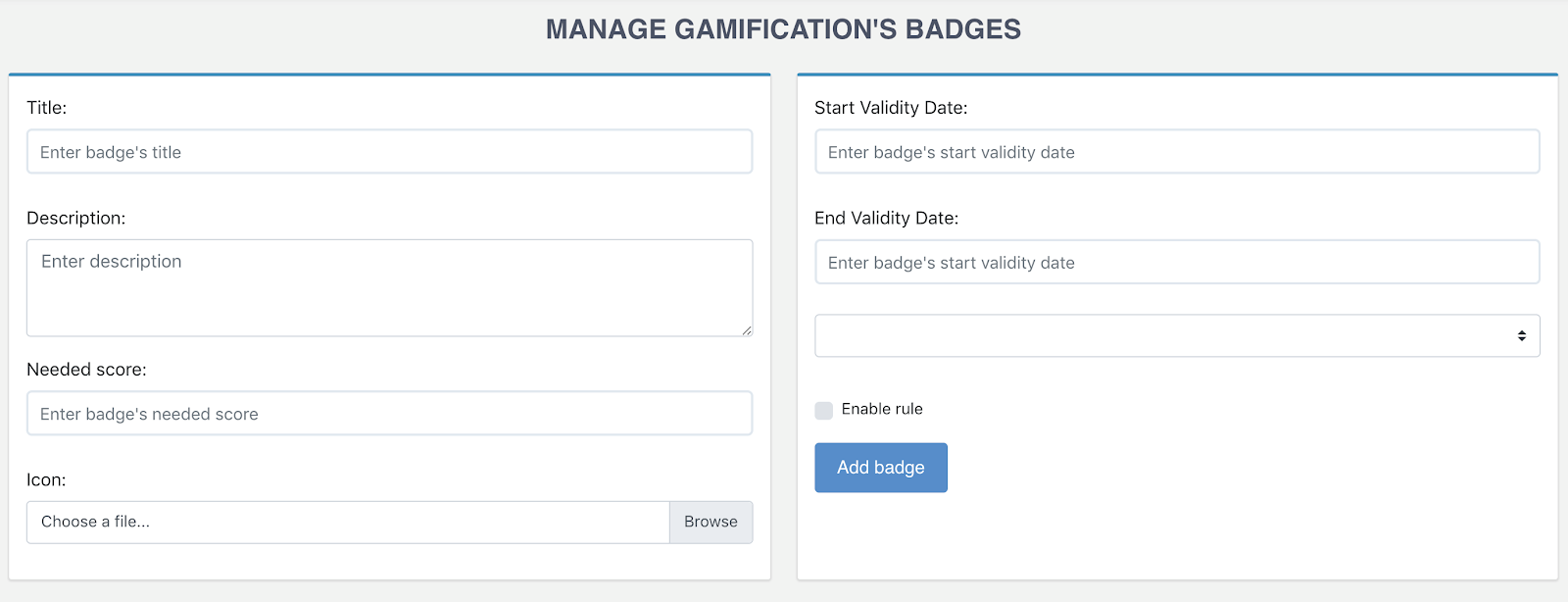 eXo Gamification add-on: Configure Gamification's Badges