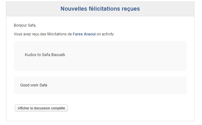 Notification par email - eXo Platform