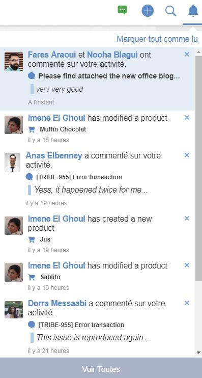 Vérifier les notifications sur sited'eXo Platform