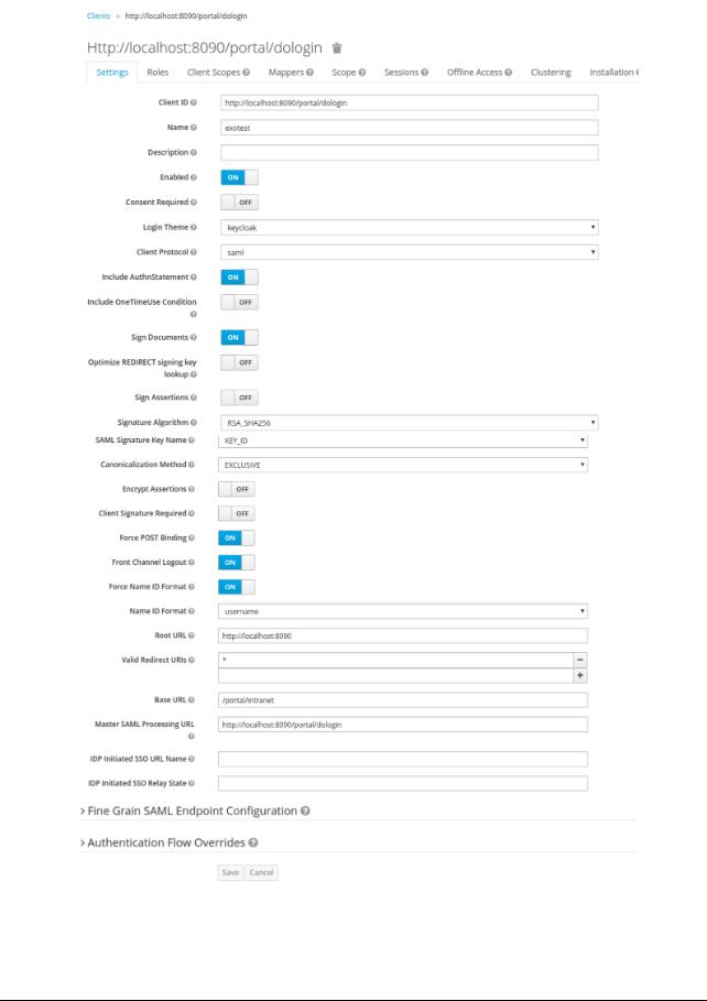 Export SAML Key on localhost